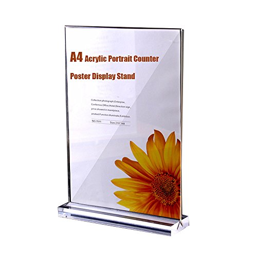 DIN A5/supporto pubblicitario Stand//T//T di appoggio in formato orizzontale//Espositore da tavolo in plexiglass/® Originale