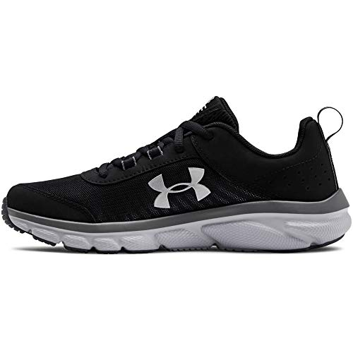 Under Armour Unisex-Youth Grade School Assert 8 Sneaker, Black (001)/Pitch Gray, 7
