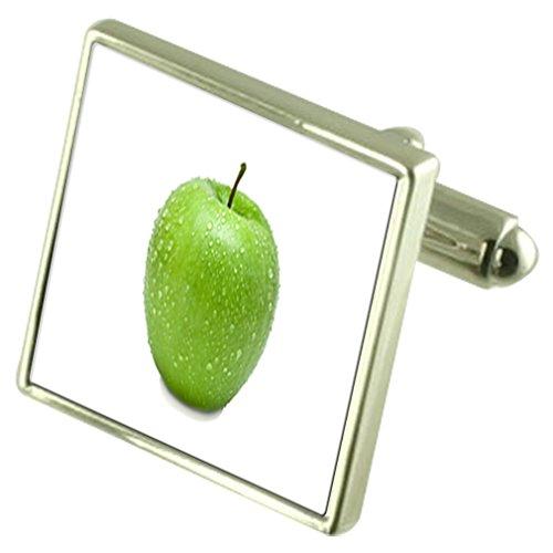 Select Gifts Frucht Grün Apple Manschettenknöpfe mit Tasche