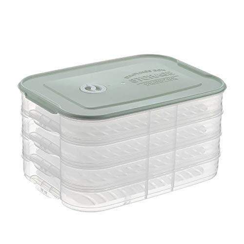 4 capas plástico bola de baloncesto caja de almacenamiento refrigerador congelación bandeja de bola de masa comida del hogar frescor contenedor de almacenamiento