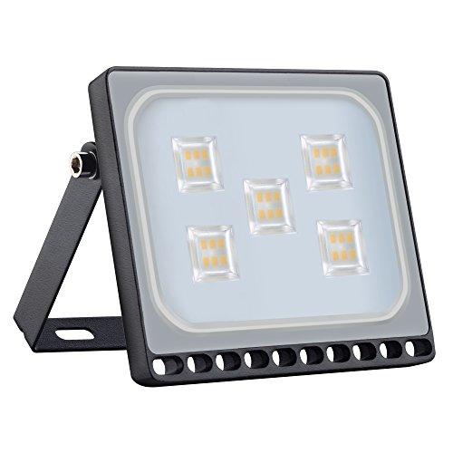 Himanjie impermeabile IP67 30 W LED Spot Proiettore, esterno e interno – Per giardino, terrazza, Square, Corte, fabbrica [classe energetica A + +], 30W, Blanc Chaud