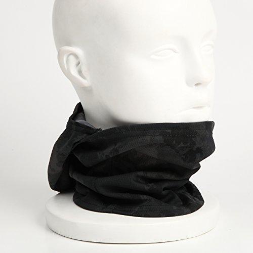『【ノーブランド品】3Way フェイスマスク アーミー バラクラバ ミリタリー (ブラック迷彩)』の4枚目の画像