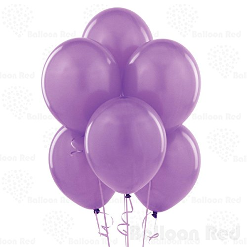 Lavender 10 Inch Latex Balloons 100 Pack Thickened Extra Strong for Baby Shower Garland Wedding Photo Booth Birthday Party Supplies Arch Decoration Engagement Anniversary Christmas Festival