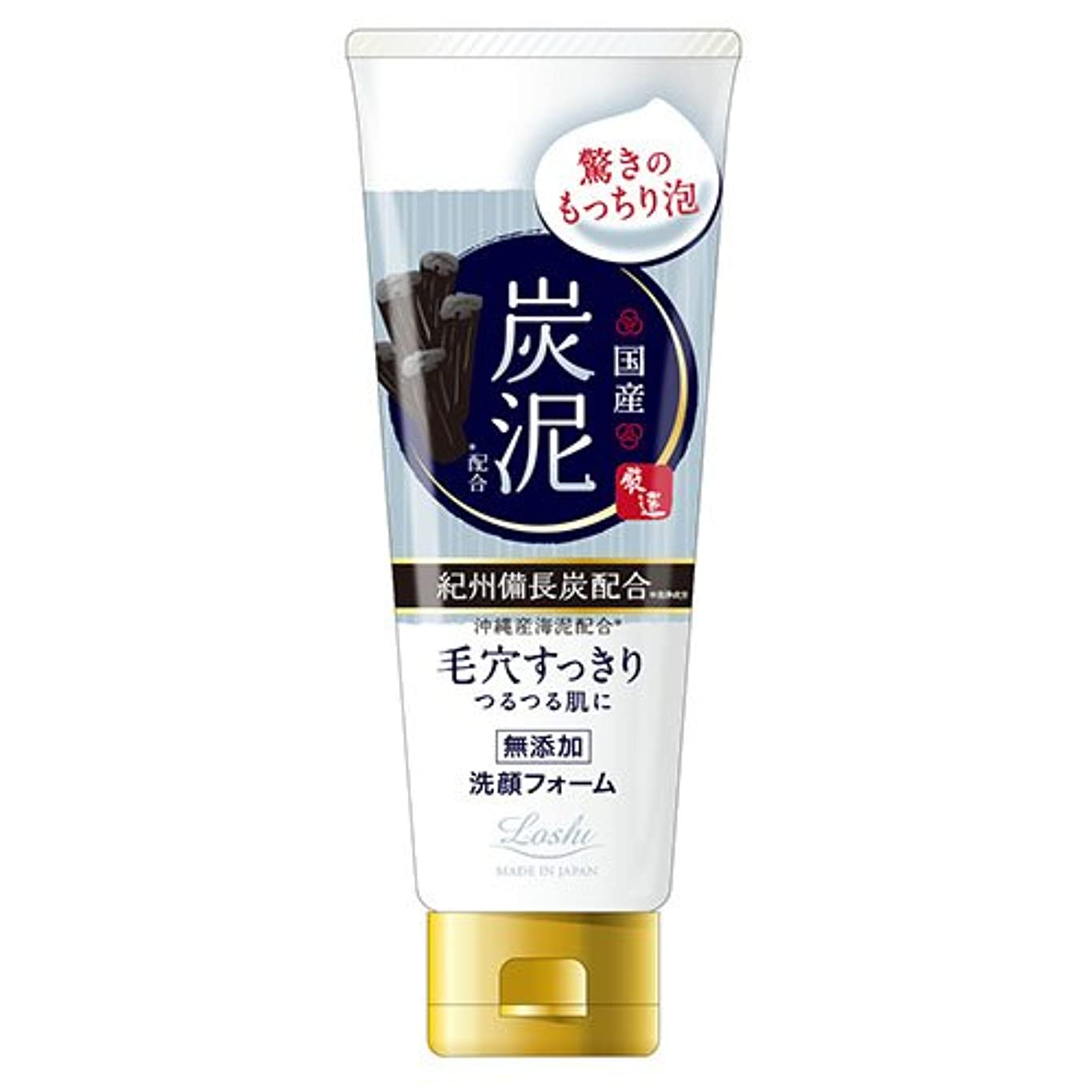 錫カポック連想ロッシモイストエイド 国産 ホイップ洗顔 炭泥 120g