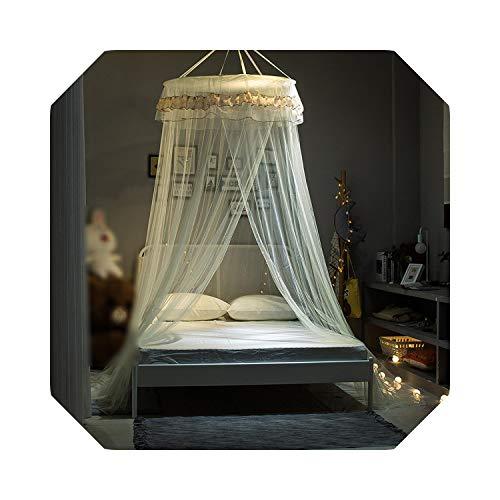 Klamboe beddengoed Europese Klamboe Prinses Kant Bed Gordijn Roterende Plafond Klamboe Hung Dome Voor Slaapkamer Bed Kinderkamer Deco-2-