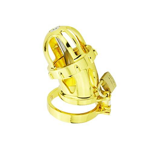 CZQQder Cinturón Vīrginity de color dorado brillante Dispositivo Vīrginity Lock 24K chapado en oro Brillante para marido Sunglasses (Size : M)