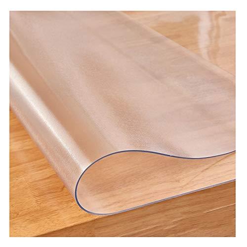 Protector Mesa Vidrio Transparente Suave Mantel Transparente Mantel De PVC 1,5 Mm, 2 Mm Tapete De Mesa A Prueba De Agua Y Aceite Estera De Mesa De Café (Color : 1.5mm, Size : 80X135cm)
