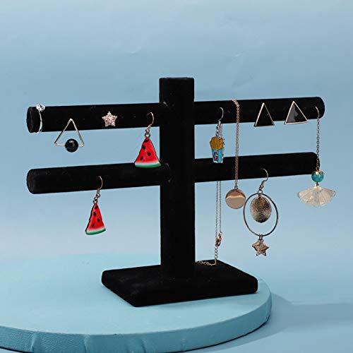 FOLOSAFENAR Estante del Almacenamiento de la joyería del paño del Terciopelo del Tenedor del Pendiente Desmontable, para exhibir la joyería