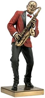 Saxophone Player Statue Sculpture Figurine - Jazz Band Collection