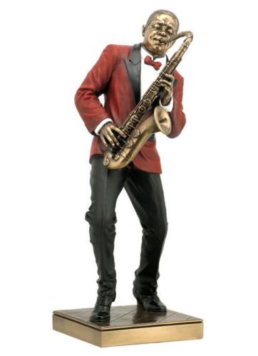 Saxophon Player Statue Skulptur Figur–JAZZ BAND COLLECTION by Wu