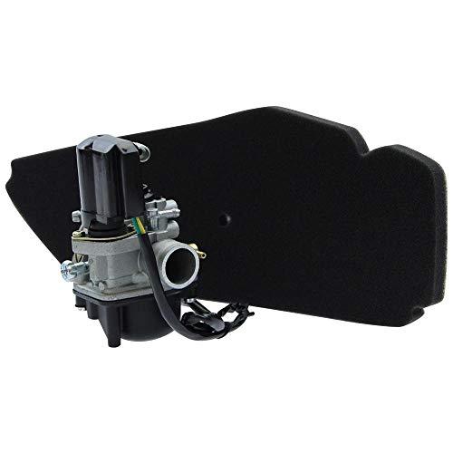 17,5mm Sport Vergaser E-Choke + Luftfilter RMS Citomerx Unterdruckanschluss Piaggio Sfera NSL NSL 50 NS8 80