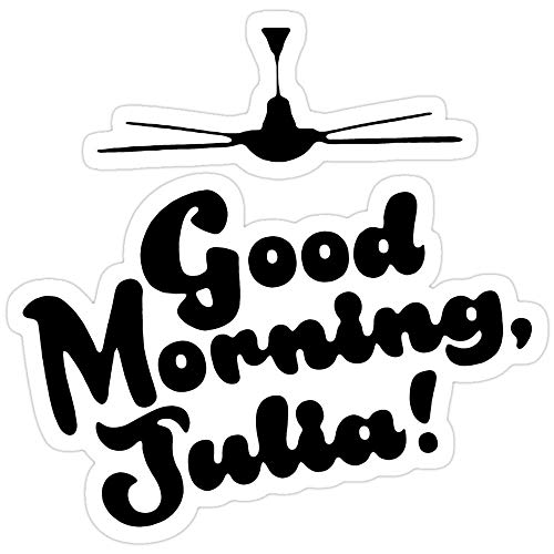 Sticker Vinyl Decal for Cars, Water Bottle, Fridge, Laptop - YMH Good Morning Julia Stickers (3 Pcs/Pack)