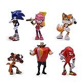 Htipdfg Figura de acción 6 unids/Set 7cm Sonic Action Figuras Juguete PVC Juguete Sonic Shadow Tails...