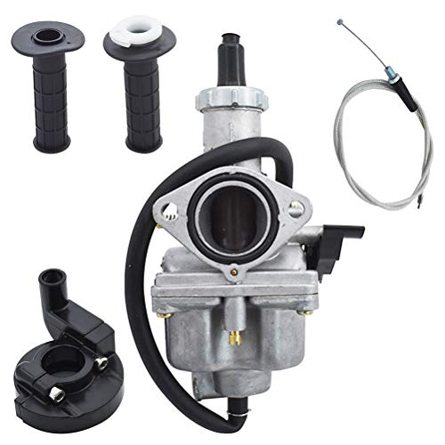 New Carburetor Carb with Handlebar Grips and Throttle Cable Fit for Honda XR100 1981-1984 XR100R 1985-2003 CRF100F 2004-2007