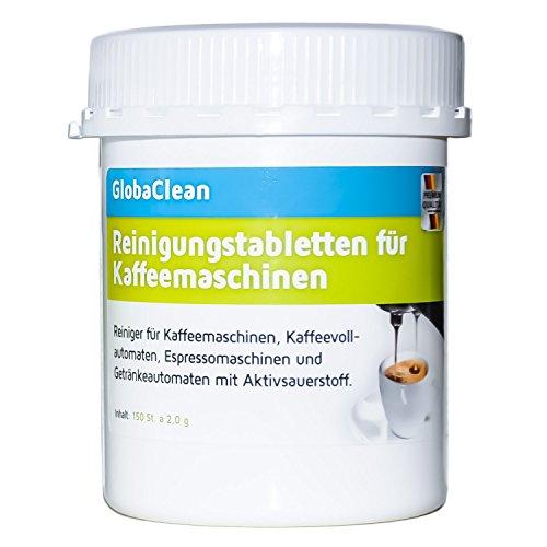 Reinigungstabletten für Kaffeevollautomaten 150 Tabletten je 2g kompatibel mit Jura Siemens Bosch Krups WMF Saeco Melitta Reinigungstabs hergestellt in Deutschland