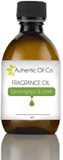 Lemongrass & Lime Fragrance Oil concentrate 10 ml for soap bath bombs and candles cosmetics.