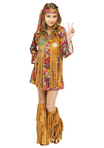 Fun World Child Peace & Love Hippie Costume Medium (8-10)