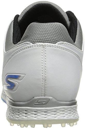 Skechers 2017 GO Golf Elite 2 Tour Performance Leather Mens Golf Shoes-Waterproof Gray/Blue 12UK