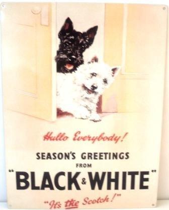 Plaque en métal pub Accessoires Noir et Blanc