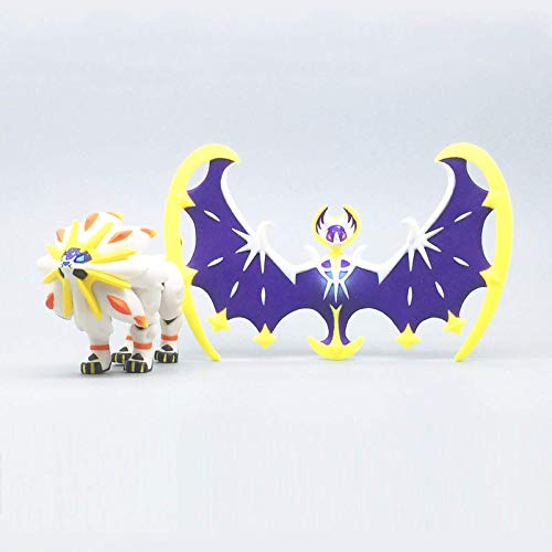 Figura De Acción De Pokemon Versión Japonesa Lunala Solgaleo Colección De Muñecas Regalos 2 Unids / Set 8 Cm