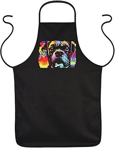 Auf den Hund gekommen Schürze Choose Adoption Boxer cooles Hunde Motiv Bastelschürze Kochschürze Weihnachtsgeschenk für Hundefreunde