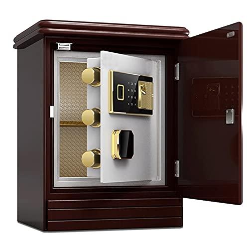 LKOPYUo Caja Fuerte de Seguridad, Caja de Bloqueo electrónica antirrobo de Lujo, Pared de gabinete Segura a Prueba de Fuego biométrica de Huellas Dactilares, para Oficina en casa, Hotel