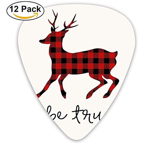 Sherly Yard Accessories Púas personalizadas a cuadros Moose Buffalo Bass Light Picks 12 paquetes