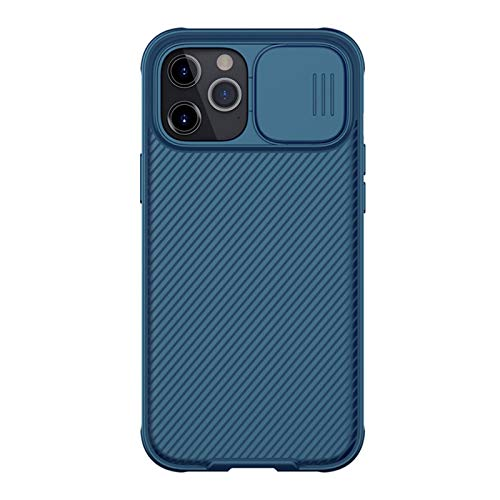 PENGQ Caja de teléfono móvil, Caja de teléfono Antideslizante y a Prueba de Golpes, Dispositivo de protección Resistente Duradero, Adecuado para iPhone 12 Mini (5,4 Pulgadas) (Color : Blue)