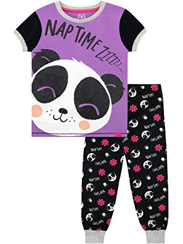Harry Bear Mädchen Panda Schlafanzug Violett 158