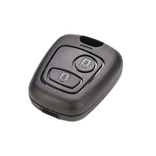 RUNGAO - Carcasa para llave de coche compatible con Peugeot