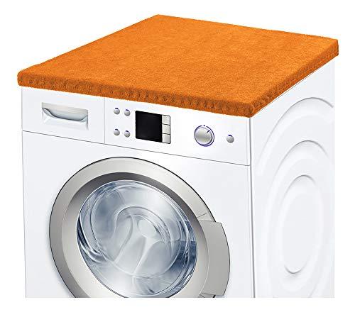Ladeheid Waschmaschinenbezug Frotteebezug 50x60 cm (Orange)