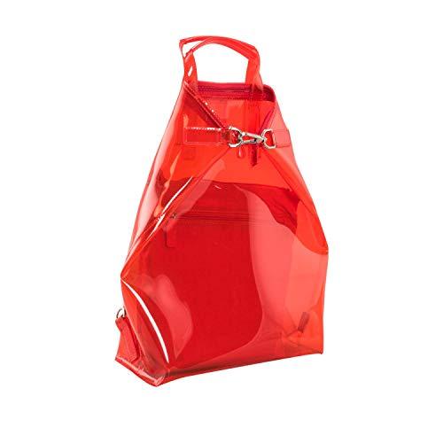 Jost Transparent X-Change (3in1) S 2tlg Sac à dos rouge
