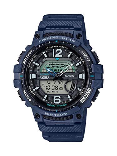 Casio Men's 10 Year Battery Quartz Watch with Resin Strap, Blue, 24.1 (Model: WSC-1250H-2AVCF)