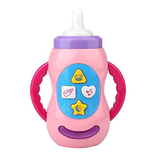 Wosune Juguete con biberón Musical para bebés, Hermoso Juguete Musical para bebés, Elegante, de Moda, Interesante, Conveniente, para bebés y niños pequeños para niños, bebés, niños(Pink)