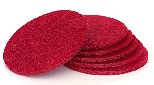 Comfortena Absorbent felt Coaster Inserts (Wine Red)