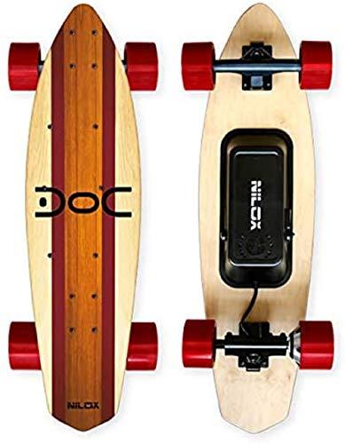 Nilox 30NXSKMO00004, Skateboard Elettrico Unisex  Adulto, Legno/Rosso, 80...
