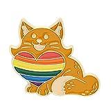 Ruby569y Broche con broche creativo para chaquetas, mochilas de ropa, arco iris, diseño creativo de dibujos animados, de aleación, diseño de animales, arco iris, para mujer - C
