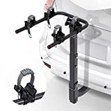 LITE-WAY 2-Bike Bicycle Hitch Mount Carrier Rack - Heavy Duty Bicycle Carrier Fit Most Sedans, Hatchbacks, Minivans, SUV (2 Inch Receiver)