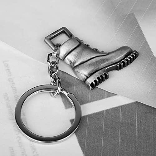 TOBENOI Kreative Militärstiefel Schlüsselbund Mode Metall Schlüsselring Autotasche Schlüsselbund Anhänger Charm Zubehör Schmuck Geschenk