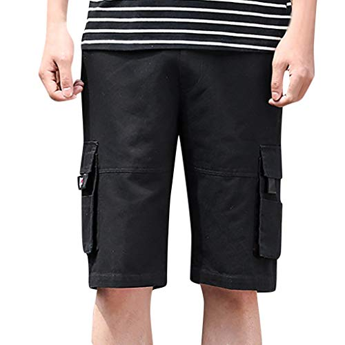 Kurze Hose Badehose Herren Shorts Xjp MäNner Casual Fitness Badeshorts Mit Tasche Hosen Arbeitshose Strandhosen Baggy Schwimmhose Sportshorts (XXXXXXXXL, Schwarz)