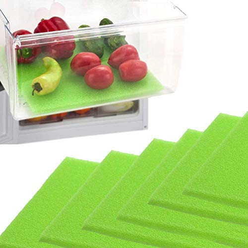 Dualplex Fruit & Veggie Life Extender Liner for Fridge Refrigerator Drawers 13 X 10.5 Inches (6 Pack) – Extends the Life of Your Produce & Prevents Spoilage