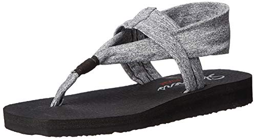 Skechers Cali Women's Meditation Slingback Yoga Flip-Flop,Grey,6 M US