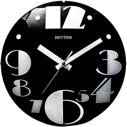 Reloj Pared, SEGUNDERO Movimiento Continuo Super SILENCIOSO, NUMEROS Impresos EN EL Cristal .DIAMETRO 30CM.