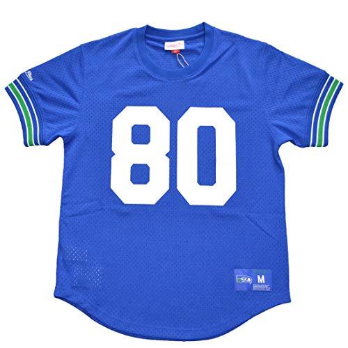 Mitchell & Ness Crew Neck Seattle Seahawks Steve Largent #80 Blue XL