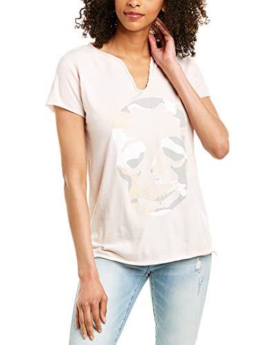 Zadig & Voltaire Womens Tunisien Mc Camo T-Shirt, M, Pink