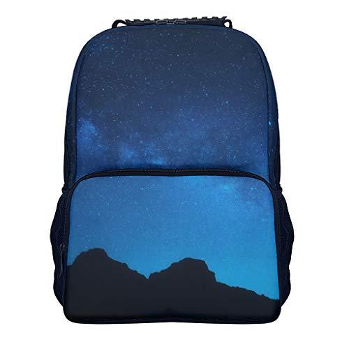 Ainiteey Klassisch Laptop-Rucksack für die Reise Diebstahlsicher Für 16-Zoll Laptop Notebook für Schüler Starry Sky White OneSize