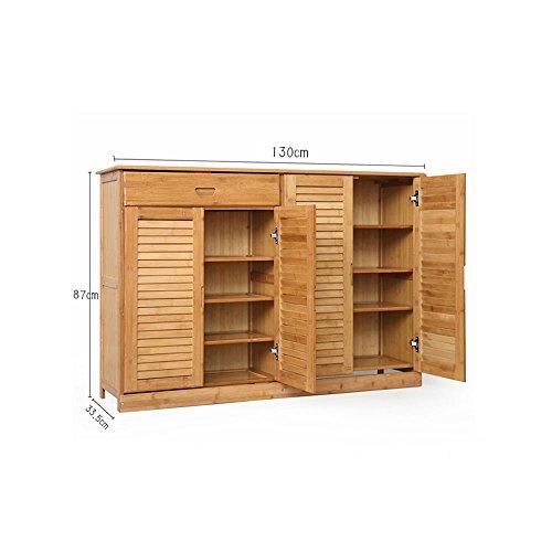 Ripiani YNN Scarpiera Scarpiera Con Cassetto Assemblaggio Cassettiera in legno massello multifunzionale (dimensioni : 130cm)