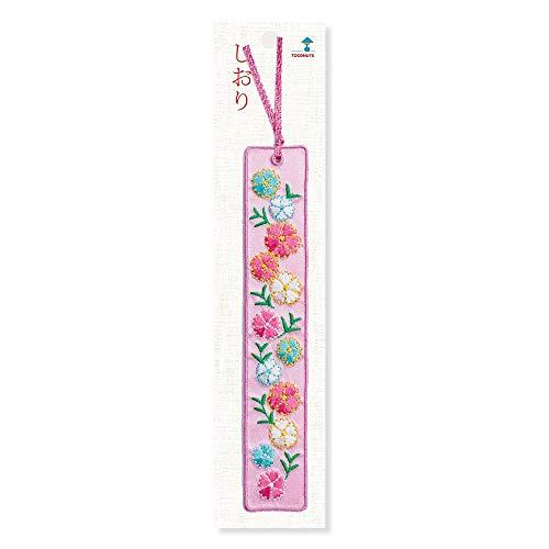 トコナッツ ブックマーク 和柄の花 花 ピンク TB-37 C