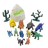 KEHUASHINA Juego Completo de 12 Juguetes para niños Mini Dinosaurio 4D 3D Cactus Puzzle Modelo Kit de Juguete