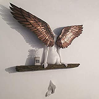 Lonsc Figurine d'ange, sculpture 3D, décoration murale pour salon, chambre à coucher